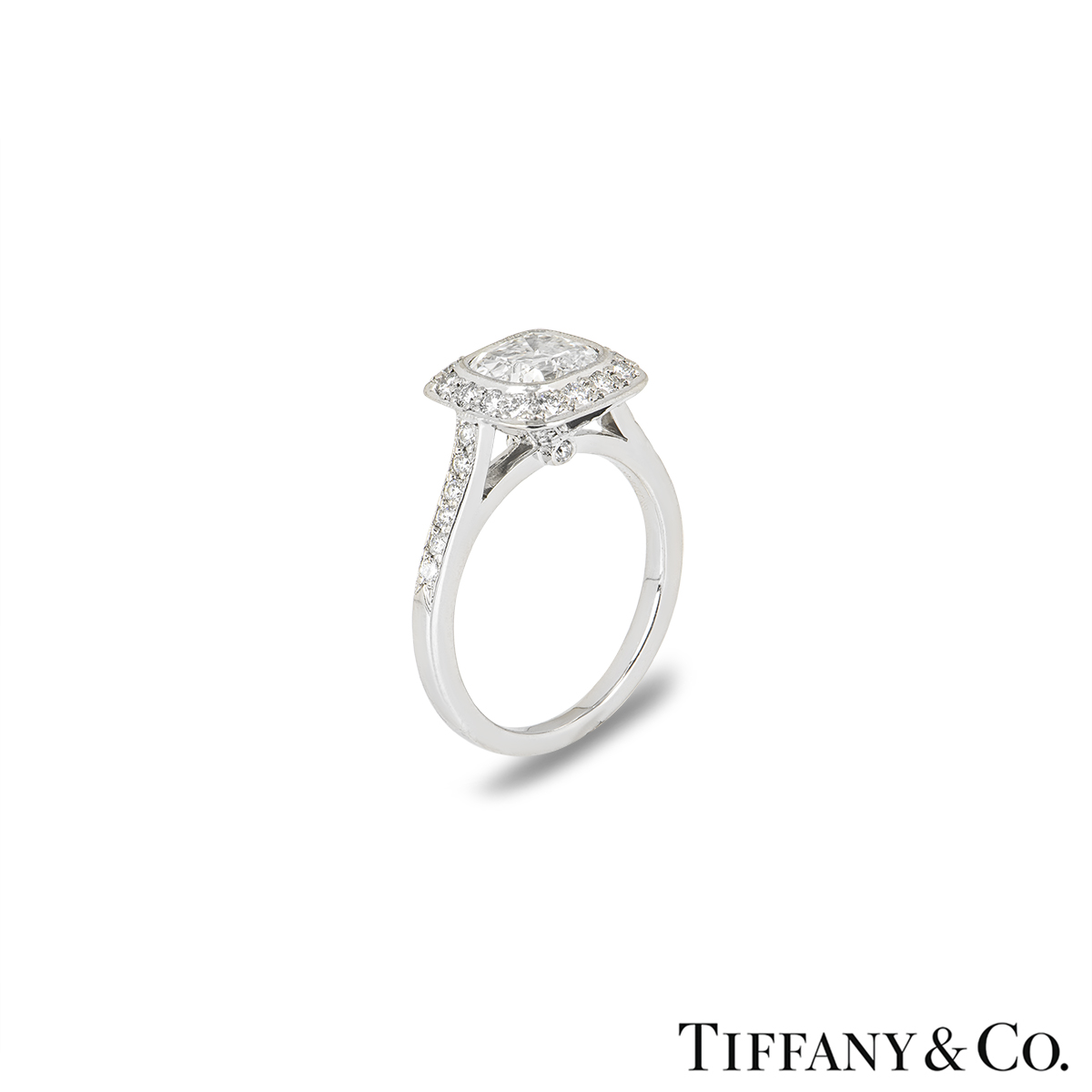 Tiffany & Co. Platinum Legacy Diamond Ring 1.34ct G/VS1